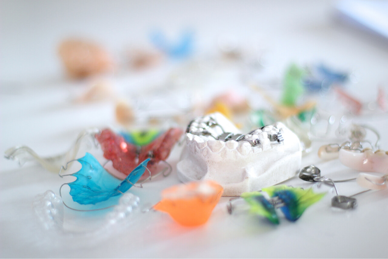 colorful braces for perfectly aligned teeth