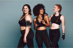 three fit women
