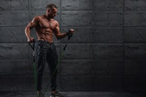 standing resistance bands workout