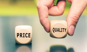The higher the price, the better quality it offers