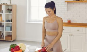 The woman joins in an optimal health program.